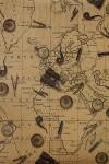 Бумага упаковочная Карта странствий