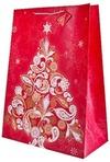 Пакет подарочный новогодний Праздничная елка
