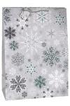 Пакет подарочный новогодний Ледяные кристаллики