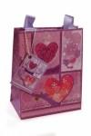 Пакет подарочный Фиолетовые сердца