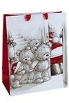 Пакет подарочный новогодний Медвежата