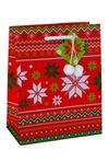 Пакет подарочный новогодний Скандинавский узор
