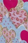 Пакет подарочный Розы в сердцах