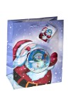 Пакет подарочный новогодний Снеговик в шаре