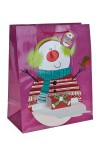 Пакет подарочный новогодний Модный снеговик