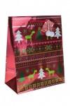 Пакет подарочный новогодний Северный узор