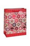 Пакет подарочный новогодний Алые снежинки