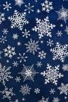 Бумага упаковочная новогодняя Ажурные снежинки