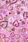 Бумага упаковочная Танцующие сердца