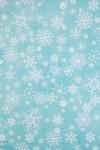 Бумага упаковочная новогодняя Волшебные снежинки