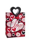 Пакет подарочный Любовь и цветы