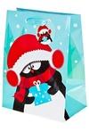Пакет подарочный новогодний Пингвин