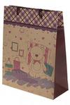 Пакет подарочный Розовый мишка