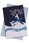 Открытка подарочная новогодняя Северный олень