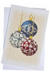 Открытка подарочная новогодняя Елочные изрушки