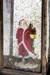 Украшение новогоднее светящееся Фонарь с Дедушкой Морозом