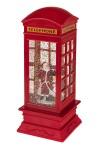 Украшение новогоднее светящееся Телефонная будка