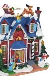 Украшение новогоднее светящ. Зимний домик