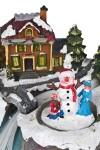 Украшение новогоднее светящ. и двигающееся Малыши у домика