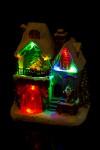 Украшение новогоднее светящееся и двигающееся Дом Деда Мороза