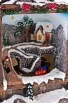 Украшение для интерьера новогоднее светящееся Домик в лесу