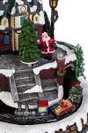 Украшение новогоднее светящееся, музыкальное и двигающееся Поезд с подарками