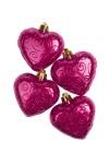 Набор украшений елочных Сердца