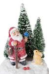 Украшение новогоднее светящееся Дед Мороз с зайкой