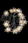 Гирлянда декоративная светящаяся Снежинки