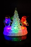 Украшение новогоднее светящееся Веселые снеговики