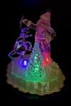 Украшение новогоднее светящееся Дедушка Мороз с оленем