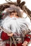 Украшение новогоднее Дед Мороз на венке с подарками