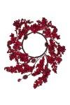 Украшение для интерьера Венок - Заснеженные ягоды