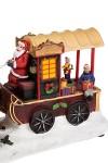 Украшение новогоднее светящееся и двигающееся Повозка Деда Мороза