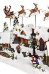 Украшение новогоднее светящееся и двигающееся Дед Мороз над городом