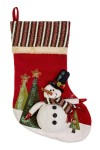 Рождественский носок Веселый снеговик