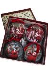 Набор шаров елочных Открытка в стиле ретро