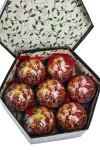Набор шаров елочных Дед Мороз и девочка