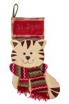 Рождественский носок Котенок