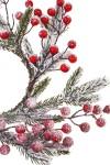 Композиция декоративная Венок новогодний