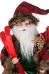 Украшение новогоднее Дед Мороз с лыжами