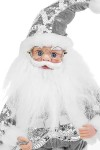Украшение новогоднее музыкально-двигающееся Дед Мороз с мешком подарков