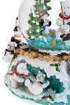 Украшение новогоднее музыкальное Шар - Белый мишка у елки