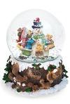 Украшение новогоднее музыкальное Шар - Веселый снеговик