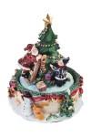 Украшение новогоднее музыкальное и двигающееся Дед Мороз с малышом у елочки