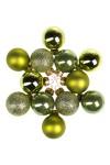 Набор шаров елочных Яркие оттенки