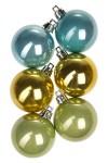 Набор шаров елочных Набор шаров елочных, 6-предм., Д=5см, пласт., желтый, салат., мятный