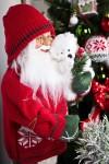 Украшение новогоднее Дед Мороз с мишуткой
