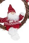 Украшение новогоднее светящееся Дед Мороз на венке