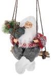 Украшение новогоднее Дед Мороз с елочкой на качелях